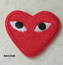 Commes Des Garcons Embroided Iron On Patch CDG Japan Red love heart 20pcs lot