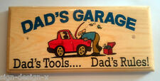 Dads Garage (Dads Tools, Dads Rules) - Plaque / Sign / Gift - Shed Grandad 400