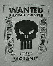 Marvel Comics Wanted Frank Castle Poster The Punisher T-Shirt New Large