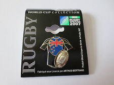 NEW ZEALAND ALL BLACKS 2007 RUGBY WORLD CUP IN FRANCE PIN BADGE, ARTHUS BERTRAND