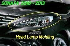 Head Lamp Molding Chrome Garnish Cover 2P K952 For Hyundai SONATA 2010-2012 2013