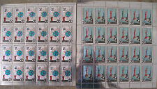 STAMPS,RUSSIA 2 FULL SHEETS.1965. Space Rockets,Radio Telescope.Sc 3022-23. MNH