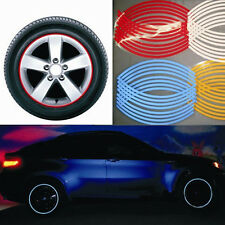 Red Blue White Stickers Reflective Car Motorcycle Rim Stripe Wheel Tape Decal