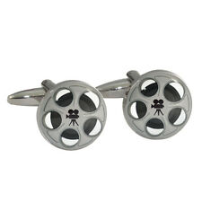 Movie Film Reels Cufflinks Gift Boxed Hollywood tin 35mm projector box NEW