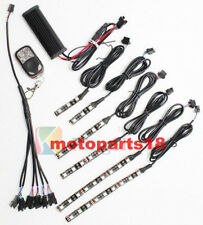 6pc PINK Advanced 5050 led strips motorcycle light kit with Remote Controller