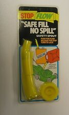 Stop Flow Safe Fill No Spill Safety Spout For Most Metal / Plastic Cans New ****