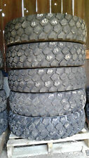 """Set of 5 Michelin XZL 9.00 R16 offroad tires, """"slightly used"""""""