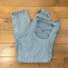 LEVIS Vtg 90s High Waist Jeans 550 Relaxed Fit Tapered Leg Womens Size 18 M