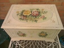 Vintage hand painted small blanket box
