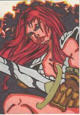 2012 Red Sonja -  Color Sketch Card by Manzella