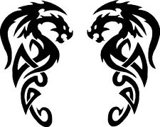 Tribal Dragon Car Camper Van Truck Window Stickers #19