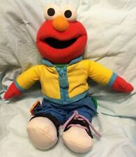 2005 Fisher Price Sesame Street Dress Me Up Elmo Talking Plush Doll Toy 15""