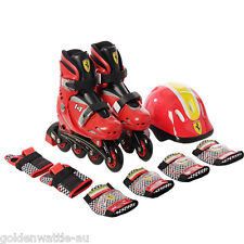 Inline Skates Youth Boys Girls Kids Roller Blades+Protective Pad+Helmet Size 1-4