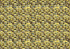 MINION Stickerbomb foglio - (X1-A4) gratis P&P! (Lunchbox / CARTOON / Kids / VW / JDM)