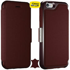 "Genuine Otterbox Strada Crafted Flip Case With Card Holder For iPhone 6 4.7"" 6s"