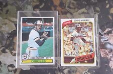 TOPPS CARD 1979 # 640 2nd years & TOPPS 1980 #160 3rd. Year EDDIE MURRAY MINT.