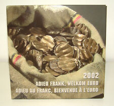 Belgium 2002 - Official (BU) Euro Coin Set - Farewell Franc - Welcome Euro