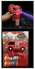 LIGHT UP FIRE TRUCK BUBBLE GUN WITH SOUND toy bottle bubbles maker machine NEW