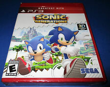 Sonic Generations Sony PlayStation 3, PS3 *Factory Sealed! *Free Shipping!