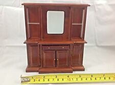Dollhouse Miniature Furniture Wood Living Room Mirror Drawer Shelf Cabinet 1:12