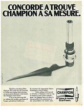 PUBLICITE  1980   CHAMPION  bougies choisies par le CONCORDE & AIRBUS