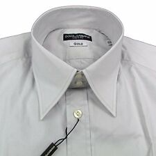 "Mens DOLCE & GABBANA D&G GOLD Slim Fit Stretch Grey Shirt 40"" RRP £200 box5612 H"