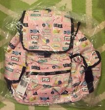 NWT Lesportsac Sweet Talk Pink Candy Bar Voyager Backpack New