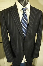 PHINEAS COLE SUPER 130'S SIZE 38R NAVY PINSTRIPE 2 BUTTON BLAZER W/DUAL VENTS