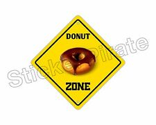 "*Aluminum* Donut Zone Funny Metal Novelty Sign 12""x12"""