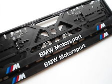 2 X BMW E-46 E-36 E-90 EUROPEAN LICENSE NUMBER PLATE SURROUND FRAME HOLDER