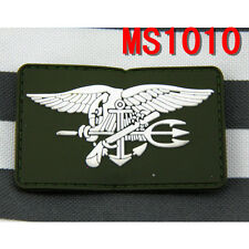 1PC Patch Tactical Military PVC Navy Seal Patch Combat Badge Green Patches Hot