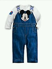 DISNEY STORE MICKEY MOUSE DUNGAREE FOR BOYS NEW WITH TAG SIZE 12/18MOS