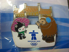 Vancouver 2010 Olympics - Quatchi & Miga at China Gate Pin