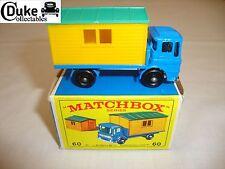 Lesney Matchbox 60B camión con sitio Office-Nr Menta en caja original de E4