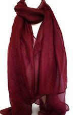 NEW DARK RED MAROON LARGE MAXI SCARF HEAD SCARVES STOLE SARONG SHAWL