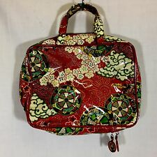 Nick & Nora Asian Dragons Cosmetic Bag Overnight Red Jewelry Plastic Handles