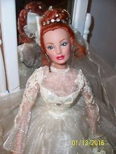 "Sandra Bilotto Paradise Galleries16"" Butterfly Ring Bride DOLL in Wedding Gown"