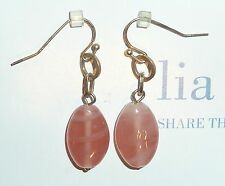 "NEW DEMO - LIA SOPHIA ""MANDALAY BAY"" - PINK RESIN DROP EARRINGS - 2009/$25"