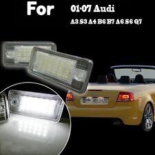 2X 18 LED 6000K Feu Eclaireur Licence Plaque Pour Audi A3 S3 A4 B6 B7 A6 S6 Q7