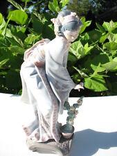 """Exquisite Lladro """"MAYUMI"""" Geisha Girl Flower Arranger 01449 Retired"""