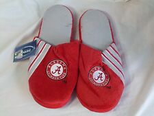 NWT NCAA STRIPE LOGO SLIDE SLIPPERS - ALABAMA CRIMSON TIDE - LARGE