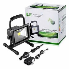 LE 20W Rechargeable Portable LED Work Light  Outdoor Floodlight 1400lm 40W Equiv