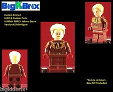 HUMAN TORCH Vers. #2 Marvel Custom Printed LEGO Minifigure NO DECALS USED!