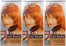 3 x LOreal Paris Feria Color Booster P78 Pure Paprika Power - Hair Colourant Dye