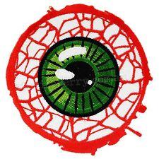 Kreepsville 666 Bloody Eyeball Iron On Patch Horror Gothic Punk Rockabilly Eye