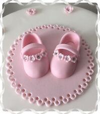 ✿ Handmade Baby Girl blossom Bootie cake topper baby shower Christening ✿
