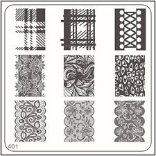 MoYou Nail Fashion Square image plate 401 Vintage Style