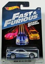 Hot Wheels 2017 Fast and Furious Nissan skyline GT-R R34 silver/blue 1:64 #2 / 8