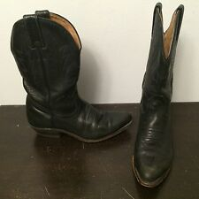 BOULET Canada Women's Black Leather Classic Western Cowboy Boots Size 5.5 C
