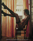 A3 LTD PRINT BY ELLECTRA /ORIGINAL NUDE EROTIC OIL LARGE CANVAS PAINTING SUNSET